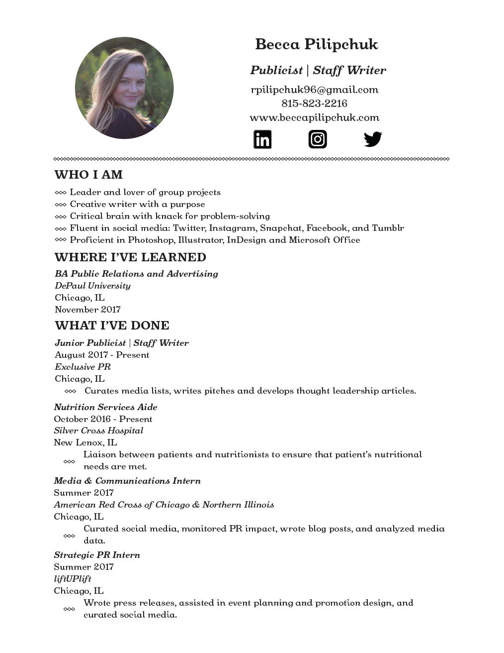 Resume – Becca
